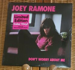 New Sealed Joey Ramone Donand039t Worry About Me Color Vinyl Lp With Hype Sticker