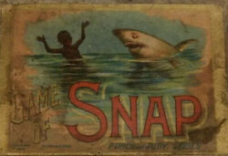 Mcloughlin Brothers Card Game, Game Of Snap,punch And Judy,1892 Shark Attack