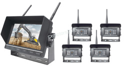 Wireless Backup Camera System W/ 7 Quad Lcd And 2, 3 Or 4 Cam Options Truck