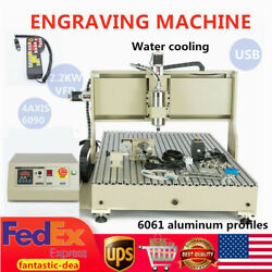 Cnc Router 6090 4axis 2.2kw Usb Milling Engraving Diy Cnc Cutting +controller Us