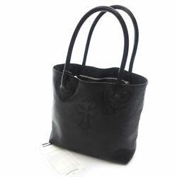 Chrome Hearts Fs Tote Cross Patch Leather Bag Black