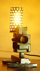 Handmade Steam Punk Style Wall Lamp With Authentic Edison Bulb. Post Apocalyptic