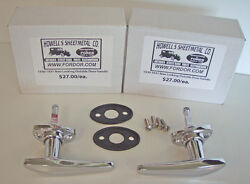 1930 1931 Model A Ford Outside Door Handle Set With Pads And Screws Coupe Sedan