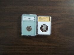 2009-s Kennedy Pr70cam, And1955-d Nickel Ms67 Two Beauties