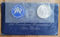 1972 1 Eisenhower 40 Silver Dollar Uncirculated Mint Cello - Buy More And Save
