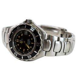Omega Seamaster Professional 200 Date Ss Swiss Watch Black Dial 32mm