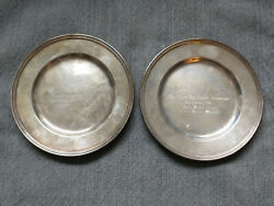Cincinnati Oh Lucien Strauss Vintage 2 Silver Lawn Bowling Awards 1966 And 1968