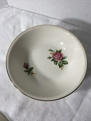 """Paden City Pottery D-51 Roses Soup Cereal Bowl 6.25"""" Lot Of 7"""