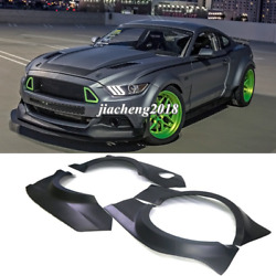 For Ford Mustang 15+ Gt500 Rtr Fender Flares Wide Body Kit Wheel Arch Cover Trim