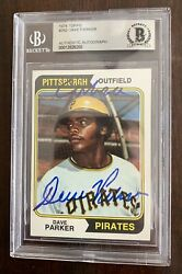 Dave Parker Auto Signed Rookie 1974 Topps 252 W/the Cobra Beckett Slab