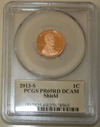 2013 S Lincoln Cent Pcgs Pr69rd Dcam Signed By Lyndall Bass