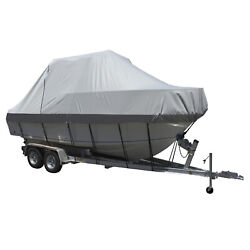 90026p-10 Carver Performance Poly-guard Specialty Boat Cover F/26.5and039 Grey