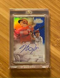 2017 Topps Gold Label Framed Autograph 1/5 Mike Trout On-card Auto Angels