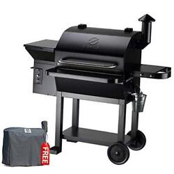 Zpg-10002b 2020 New Model Wood Pellet Grill And Smoker 8 In 1 1060 Sq In Black