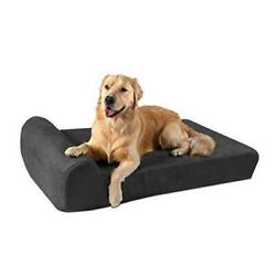 7 Pillow Top Orthopedic Dog Bed For Large Large 48 X 30 X 7 Charcoal Gray