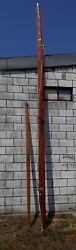 Beautiful Vintage 20and039 Hollow Wood Sailboat Mast And 12and039 Boom W/ Harken Hardware