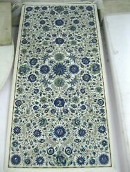 24 X 48 Inches Marble Kitchen Table Top Lapis Lazuli Stone Inlaid Dining Table