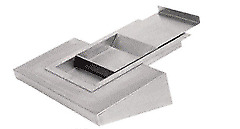 Crl Fl4146 Brushed Stainless Steel Sliding Deal Tray With Shelf