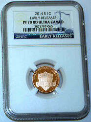 2014-s Proof Lincoln Cent Ngc Pf70rd Ultra Cameo - Shield Early Release