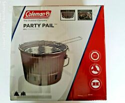 Coleman® Party Pail Charcoal Grill - Brand New Bbq Portable, Emergency Use