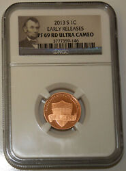 2013 S Lincoln Cent Pcgs Pf69rd Ultra Cameo - Early Release