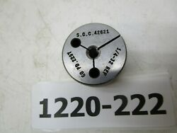 Scc 3/4 Thick Thread Ring Gage 1/4-32 Nef Go P.d. .2297 Single Lot