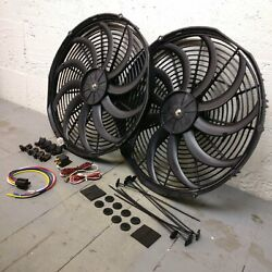 1960 - 1965 Ford Falcon 2x 16 Inch Fan Cooling Kit Push Pull Engine Bay