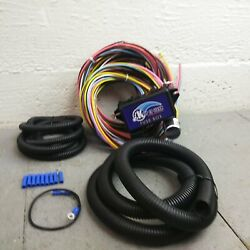 1932-55 Willys Ultra Pro Wire Harness System 12 Fuse Restore.program Fit Color