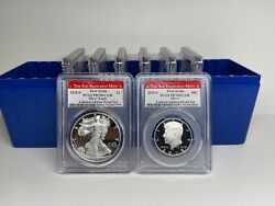 2018-s Silver Proof 8 Coins Limited Edition Pcgs Pr70dcam Fs San Francisco - 28