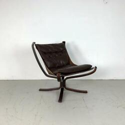 Danish Falcon Chair Sigurd Resell Ressell Retro 60s 70s Midcentury Brown 3230