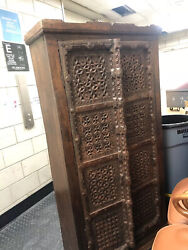 Wooden Hand Crafted Antique Indian Almirah