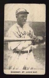 1921 Oxford Confectionery Rogers Hornsby St. Louis Browns Hall Of Fame E253 G-vg