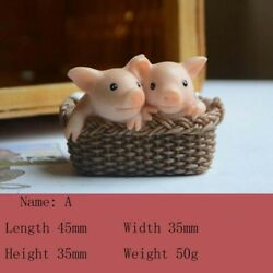 Iovely Piggy Animal Figurine Garden Ornaments Bonsai Home Decoration Gifts