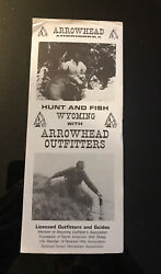 Vintage Arrowhead Wyoming Outfitters Hunt Fishing Guide Outdoors Jackson Hole