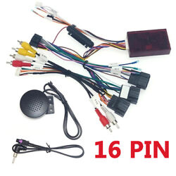 Car 16 Pin Android Audio Wiring Harness With Canbus Box For Chevrolet Gmc Sierra