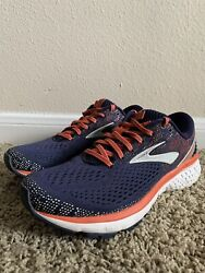 Brooks Ghost 11 Womenand039s Running Shoes Navy/coral/grey Size 10 Hard To Find Color