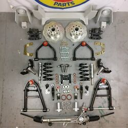 37-41 Chevy Car Mustang Ii Ifs Coil Over 2 Drop Spindles Power Street Rods