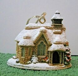 Lilliput Lane Snowed Christmas Ornament Glad Tidings Mint In Box With Deed.