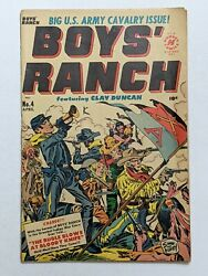 Boysand039 Ranch 4 Apr 1951 Harvey Vg- 3.5 Joe Simon And Jack Kirby Cover And Art