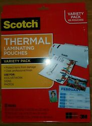Scotch Thermal Laminating Pouches Variety Pack 65 Pouches Each- 2 Pack