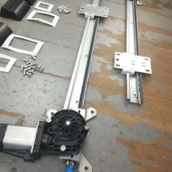 32-55 Willys Power Window Kit 3 Switches Flat Glass Vintage Style Worm Gear