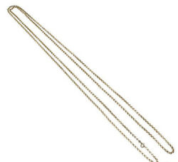 Antique Heavy 26g 9ct Yellow Gold Very Long Opera Lenght Chain Necklace 161cm