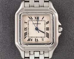 Mid Size Womenand039s Stainless Steel Panthere Quartz Watch 1310