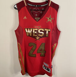 2011 Kobe Bryant Adidas Los Angeles Lakers All-star Authentic Jersey Asg Gold S