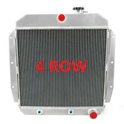 4row Cooing Radiator For 1955-1959 58 Chevy Apache Truck 4.3l / Gmc 100 150 5.3l