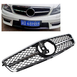 1-pin Front Grille Grill Chrome For Mercedes Benz C Class W204 2007-14 Facelift
