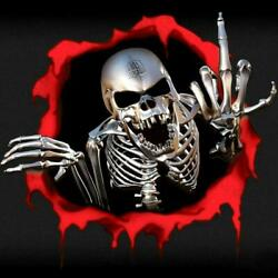 3D Skeleton Skull Car Motorcycle Sides Trunk Middle Fingers PVC Decal Stickers