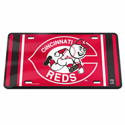 Cincinnati Reds Cooperstown Collection Acrylic Car License Plate Mlb Licensed