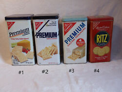 Vintage Cracker Tins Nabisco And Ritz Price Is Per Tin Choose From List
