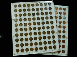 1909- 1967 Lincoln Cent Set In Capital Holder - 1909-s Vdb 1914-d 1931-s ++